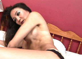 Horny Asian MILF playing with herself