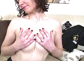 British housewife playing with her moist pussy