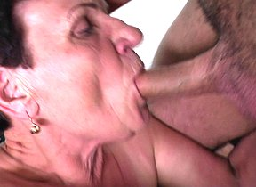 Horny mature slut fucking her way younger lover