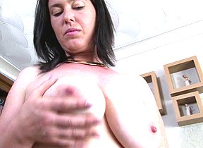Hairy British housewife playing with herself
