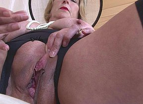 Horny British mature lady playing with her pussy
