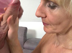 Horny Blonde housewife fucking and sucking like a maniac