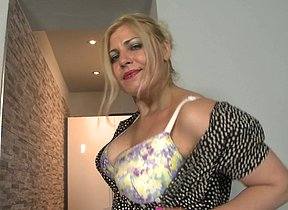 Hot big breasted housewife playing with herself