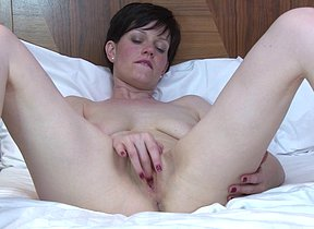 Sexual British housewife shows hot body and masturbates