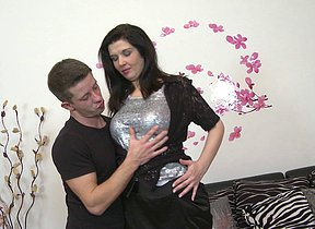 Naughty housewife fucking her toy boy