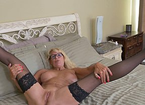 Naughty Canadian housewife playing with herself