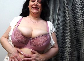 Scorching Brit Mummy frolicking with her big brastuffers