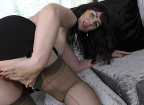 Naughty Brit housewife having joy with her fucktoy