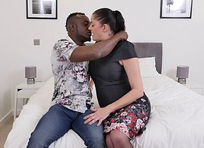 Nasty British housewife heads interracial
