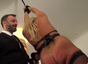 British skank Sasha Steele throated and fucked hard in ass This is not the mischievous time that this cock craving blonde Sascha Steele goes scan Pascals school for duteous sluts and some anal training!